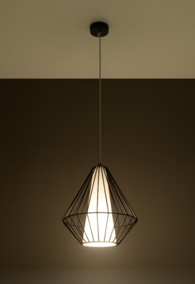 Demi czarna SL.0298 Sollux Lighting Żyrandol