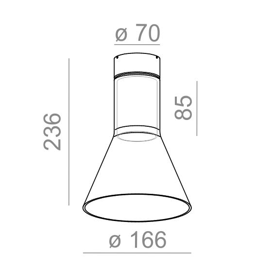 AQform Oprawa Natynkowa Modern Glass Flared 40415-0000-U8-PH-03