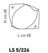 ATENE LS 5/226 Plafon Sillux  50 x 40 cm