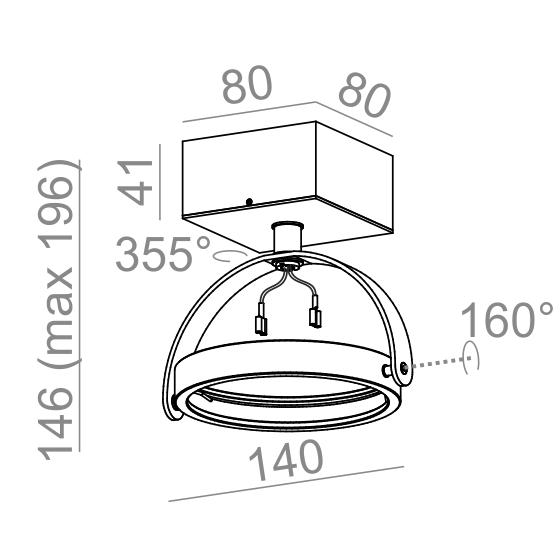 Aqform Reflektor CERES 15611-0000-T8-PH-03