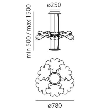 Artemide Chlorophilia 1628010A Zwis
