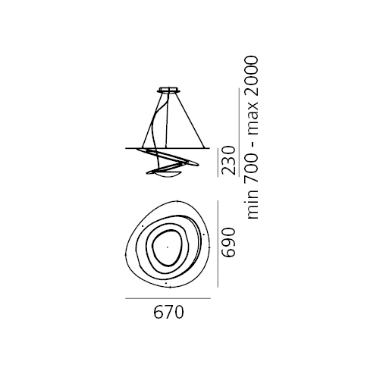 Artemide Pirce 1237010A Zwis