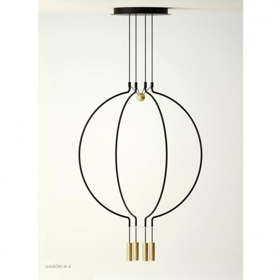 Axo Light Liaison M4 Żyrandol LED kolor czarny/złoty