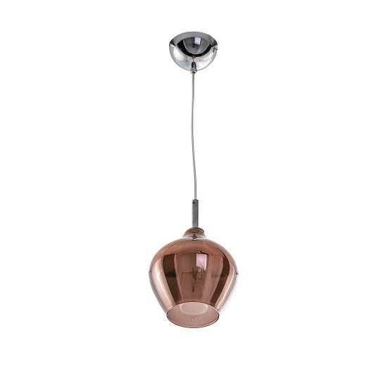 Azzardo Amber Milano AZ3077 lampa wisząca ze szklanym kloszem