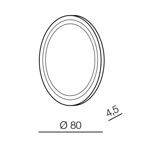 Azzardo Aurora R 80 Okrągłe Podświetlane Lustro
