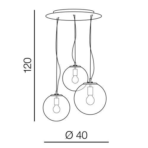 Azzardo Iris 3 AZ3104 Lampa wisząca