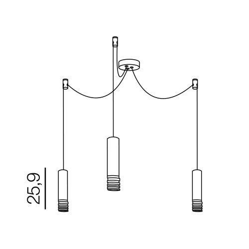 Azzardo Locus 3 AZ3403 Lampa wisząca