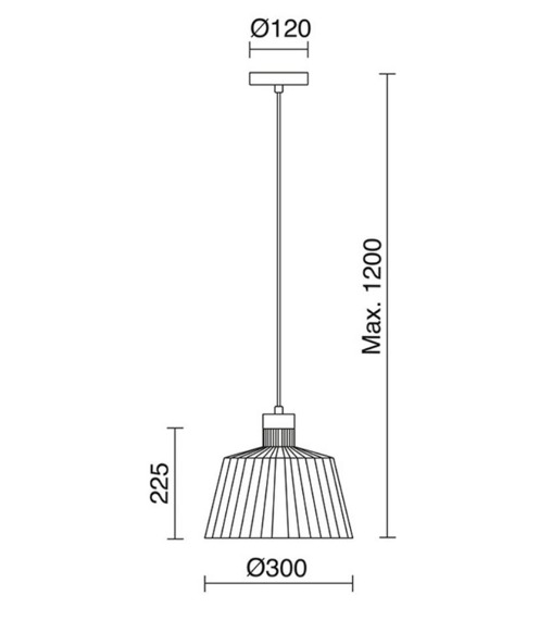 Baguet 685B-G05X1A-02 Novolux Exo Lampa wisząca