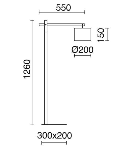Britta 681C-G05X1A-02 Novolux Exo Lampa podłogowa