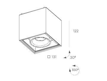 Cube  8207.01 Plafon BPM Lighting