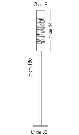 DUNE PI 1028/180 white/black Lampa podłogowa Lampade Italiane