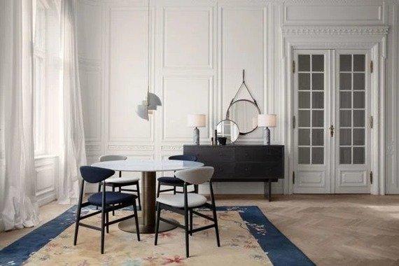 Gubi Multi-Lite 36x16cm Żyrandol kolor mosiądz/biały