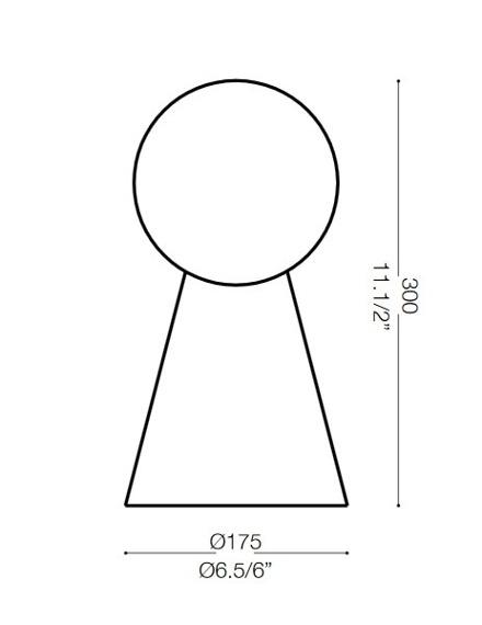Ideal Lux Lampa stołowa srebrno szara BIRILLO TL1 SMALL 116570