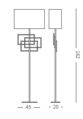 Ideal Lux Luxury PT1 Lampa Podłogowa
