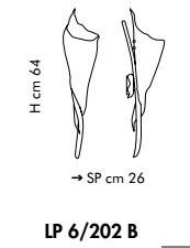 KINGSTON LP 6/202B 02/22 miedziana Lamap Ścienna Sillux 64 cm