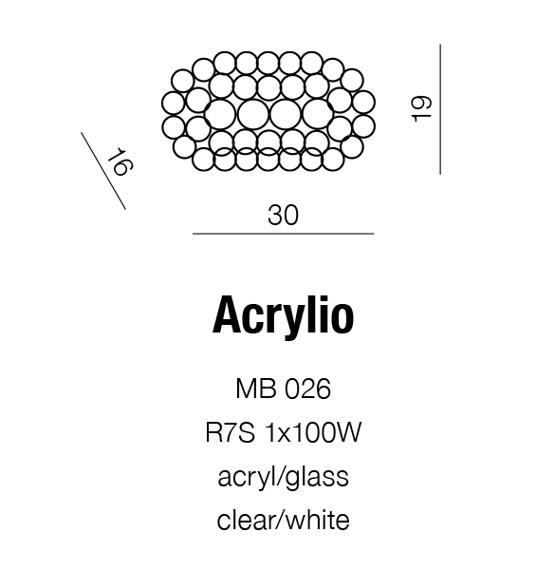 Kinkiet AZZARDO Acrylio MB 026