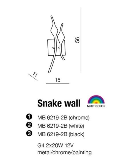 Kinkiet AZZARDO Snake MB 6219-2B Chrome