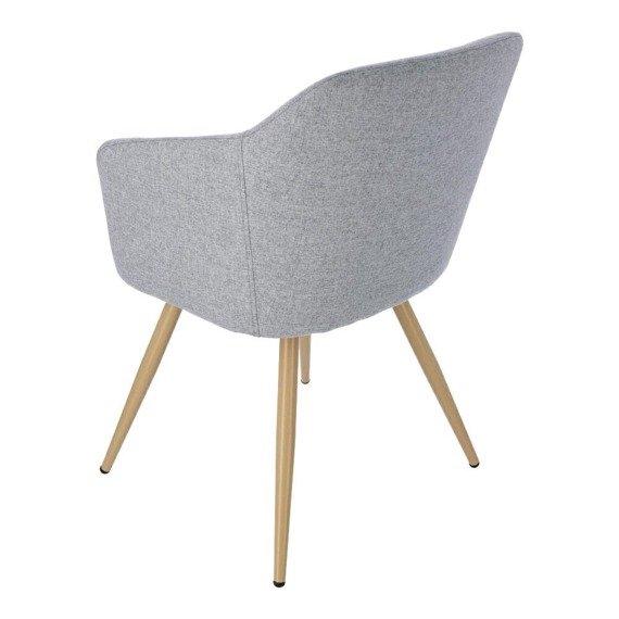Krzesło szare w stylu Glamour Molto