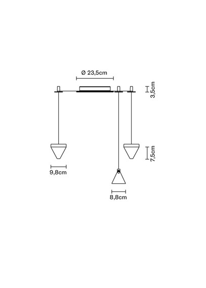 Lampa Fabbian Tripla F41 G01 11
