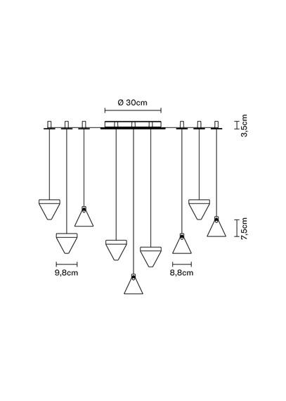 Lampa Fabbian Tripla F41 G05 21