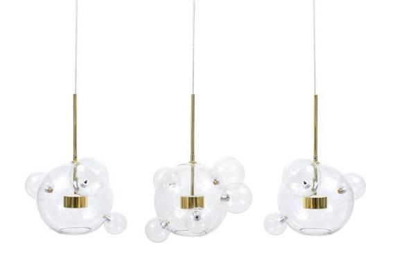Lampa Wisząca Berella Light Ballone 3H BL0460 Szklane Kule