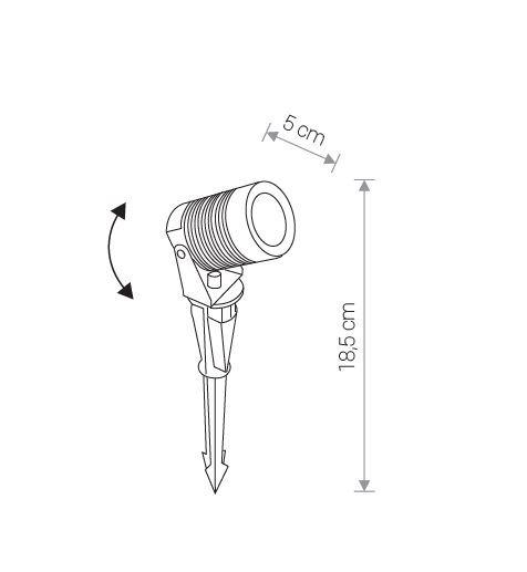 Lampa najazdowa zewnętrzna Nowodvorski Spike 9100