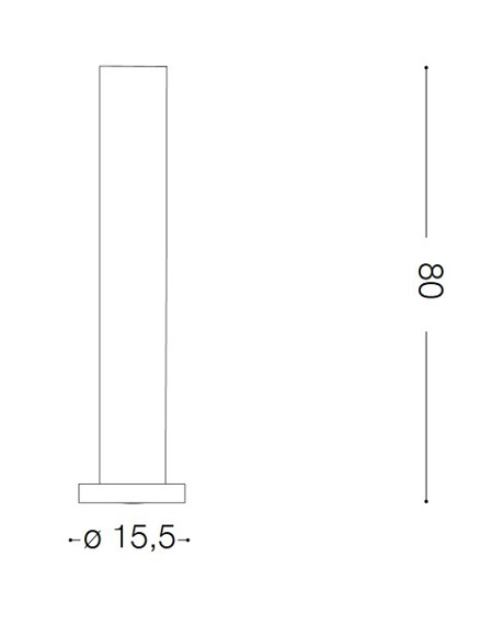Lampa ogrodowa EDO OUTDOOR PT1 ROUND 138510 czarny mat Ideal Lux