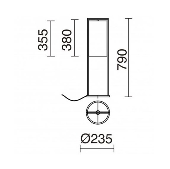 Lampa stolikowa Sintra 917A-G05X1A-02-CA Novolux Exo