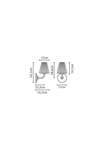 Lampa ścienna Fabbian FLOW D87 D01 01 white