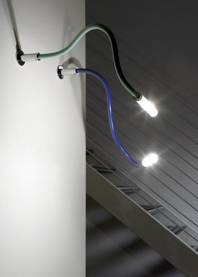 Lampa ścienna Fabbian SNAKE D63 G01 31 blue