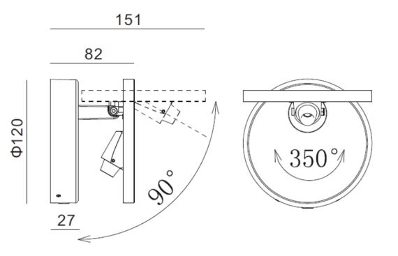 Lampa ścienna Mistic Exlipse MSTC-05411180