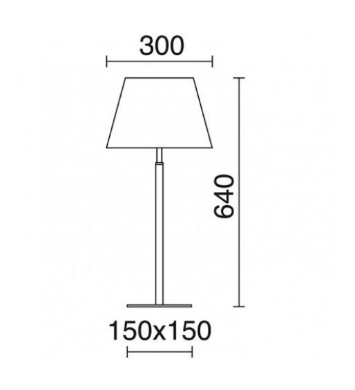 Lampa stolikowa Firenze 507D-G05X1A-35 Novolux Exo