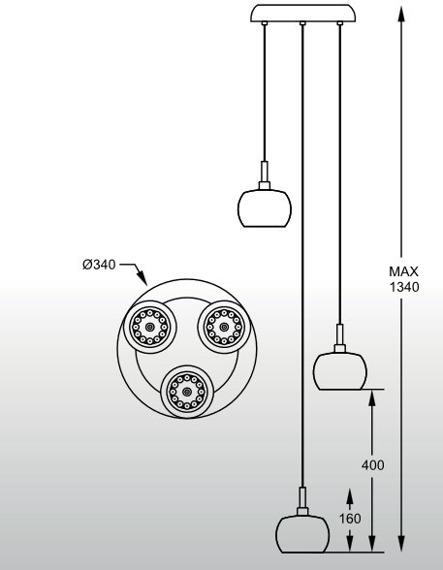 Lampa wisząca Zuma Line CRYSTAL P0076-03M