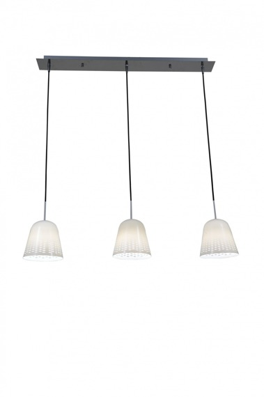 Lampa wisząca Zuma Line FRESH MD5018B-3W biała