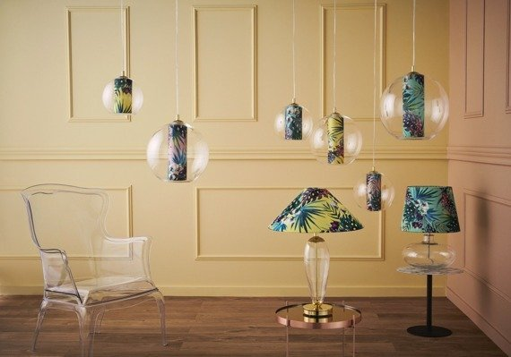 Lampa z motywem egzotycznym Kaspa Feria M