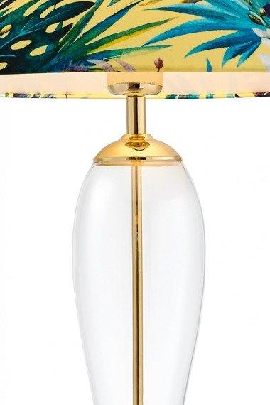 Lampka stołowa Kaspa Feria motyw kwiatowy
