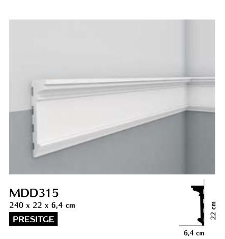 Listwa ścienna gładka Mardom MDD315