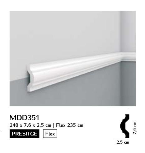 Listwa ścienna gładka Mardom MDD351