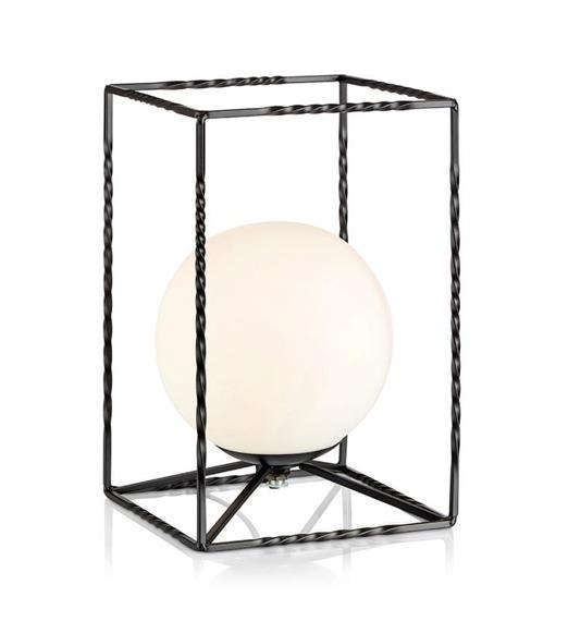 Markslojd Eve 107816 - Lampka nocna czarna z białym kloszem 1 x 40 W