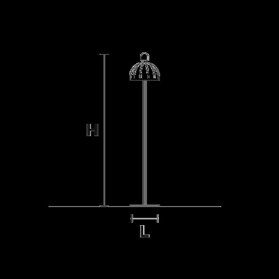 Masiero Cupolè STL V34 Lampa Stojąca