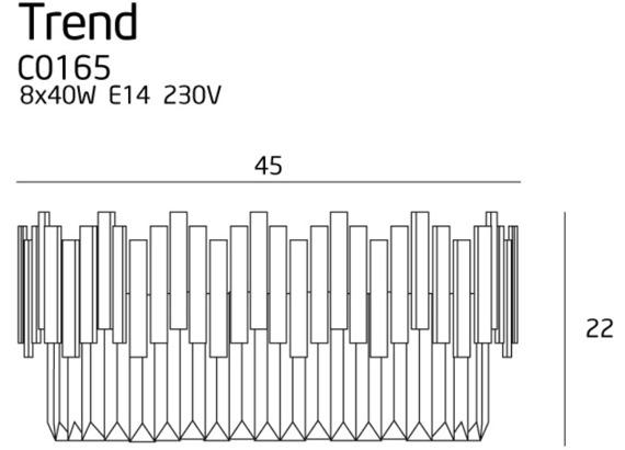 MaxLight Trend C0165 Plafoniera