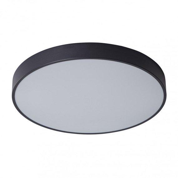 Nowoczesny czarny plafon LED Orbital 60 cm Italux