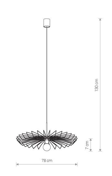 Nowodvorski Umbrella Zwis 8873 Czarny