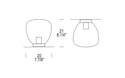 OMEGA PL 20 Lampa Sufitowa Leucos IP40