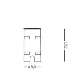 Oprawa gruntowa Rocket Mini PT1 40* Ideal Lux