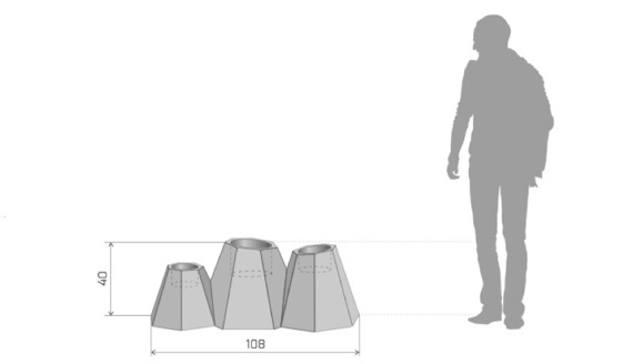 PD Concept 40 cm Donica Mont ST-MONT40 Czarna