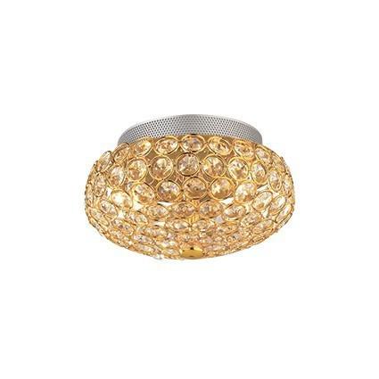 Plafon IDEAL LUX King PL3 złoto