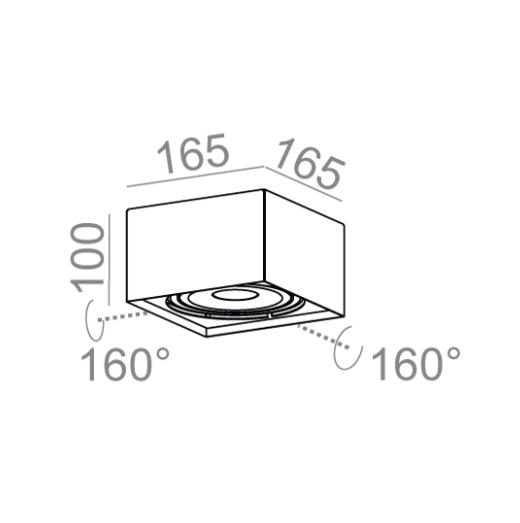 Plafon Kwadratowy Aquaform QRLED 111x1 40200