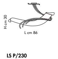 ROMA LS P/230 bursztynowy/miedziany Plafon Sillux