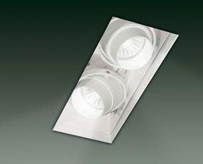 SD 602 Oprawa do zabudowy biała 22,5 x 8,2 cm Leucos